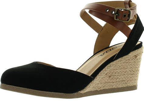 closed toe espadrille wedge sandals soda womens request closed toe espadrille wedge sandal in