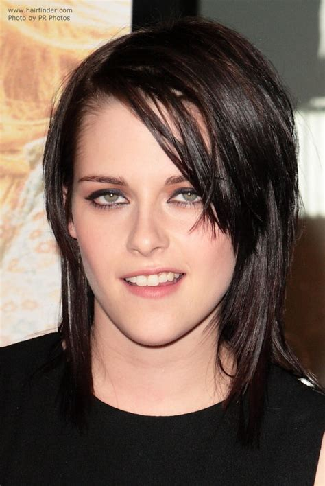 non hairstyles kristen stewart s hair in a choppy layered wet look