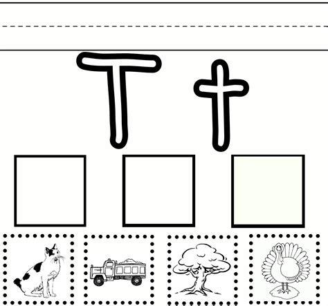 Letter T Worksheet Kindergarten by Preschool Sweet Benanna Sam