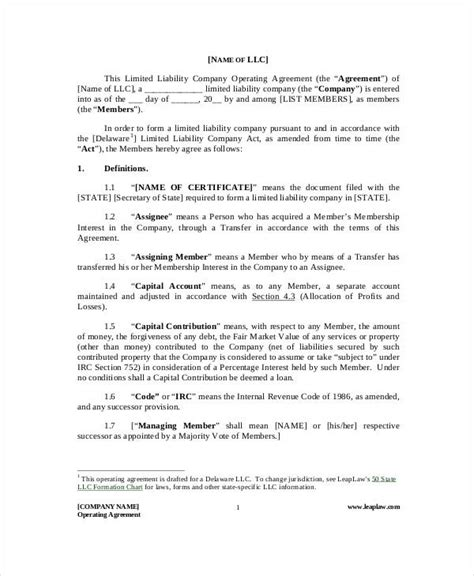 sle business partnership agreement partnership operating agreement template 28 images sle