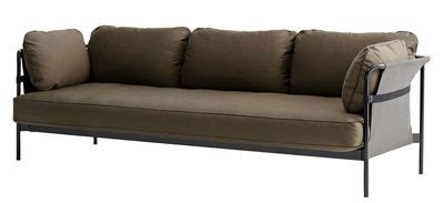 Bantalan Kaki Sofa Furniture can sofa 3 seaters l 247 cm khaki black structure grey sides by hay