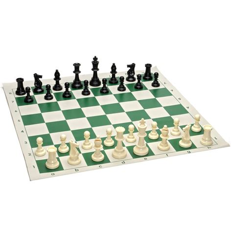 chess board amazon tournament chess pack staunton pieces with green board