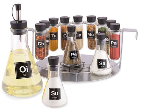 Spice Rack Set chemistry set spice rack geekextreme