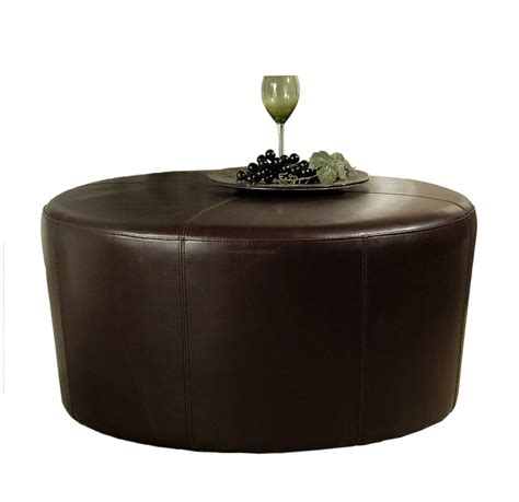 round leather cocktail ottoman leather ottoman coffee medium size of coffee