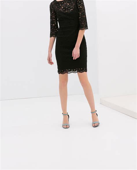 Dress Zara Black Lace black lace dress zara dress edin