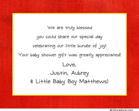 Baby Shower Gift Card Thank You Wording - baby shower thank you cards wording madrat co