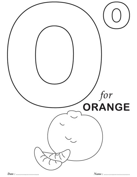 letter o coloring pages az coloring pages