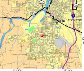 salem oregon zip code map