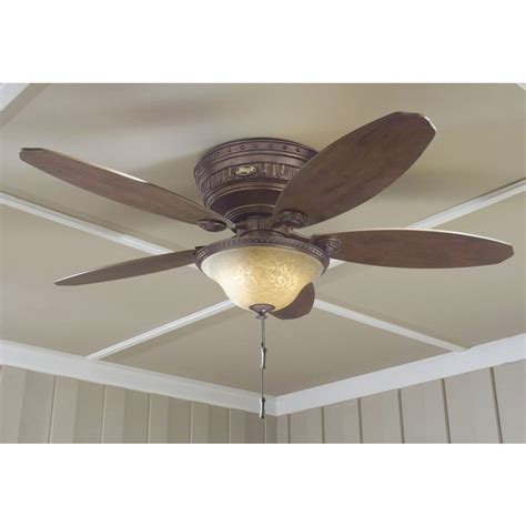 flush mount ceiling fan with light kit and remote shop avignon 52 in tuscan gold flush mount indoor
