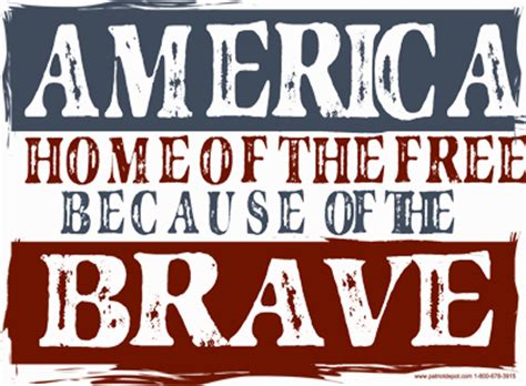 america home of the free because of the brave t shirt