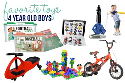 favorite toys for 4 year old boys