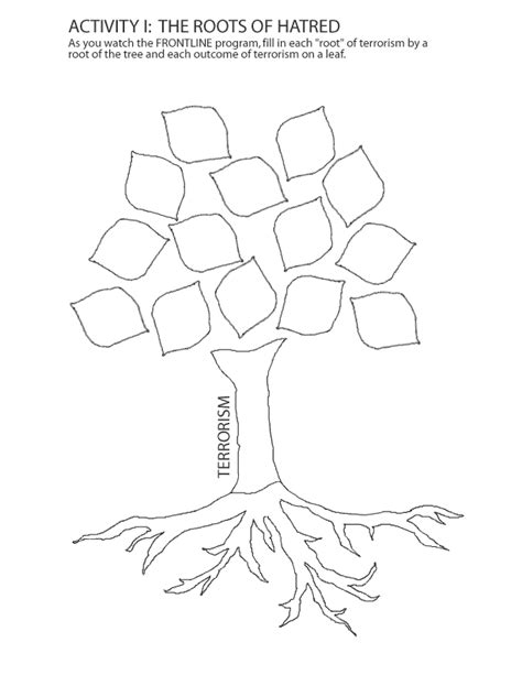 roots template blank family tree with roots sketch coloring page