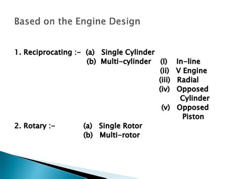Car Engine Types And Classification by Ic Engines Types Classification Nomenclature