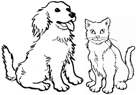 Coloring Pages Of Puppies And Kittens | kittens and puppies coloring pages funny and cute cats