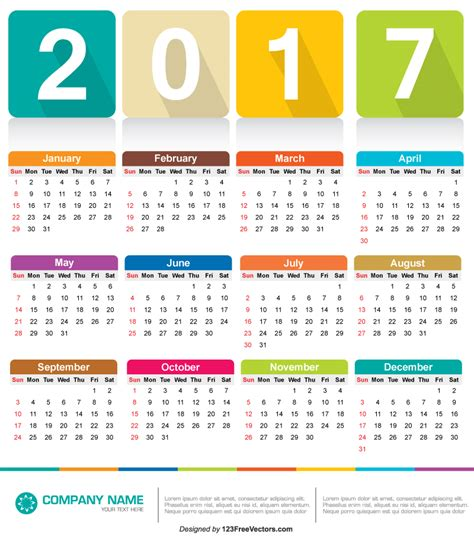 printable art calendar calendar 2017 vector by 123freevectors on deviantart