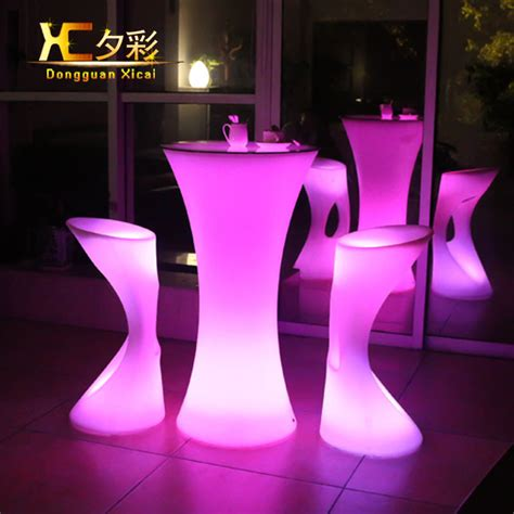 Led Bar Table Aliexpress Buy Led Bar Table Plastic Luminous Furniture High Whiskey Cocktail