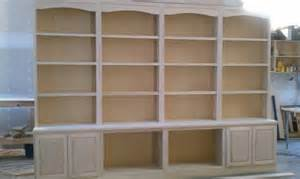 Pre Made Bookshelves Custom Built In Library Book Pre Stained