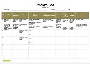 Project Management Issue Log Template by Image Gallery Issue Log Template