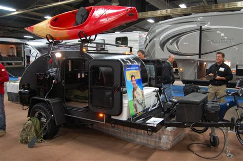 Airstream Travel Trailers Floor Plans doomsday preppers teardrop trailer debuts at rvia trade