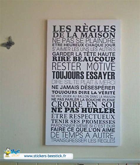 Regle De La Maison A Imprimer by Tableau Imprim 233 Sur Toile Les R 232 Gles De La Maison