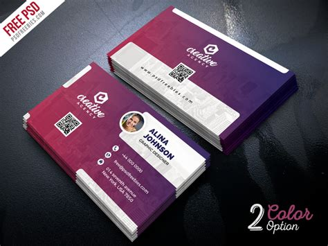 business card set template creative business card template psd set psdfreebies