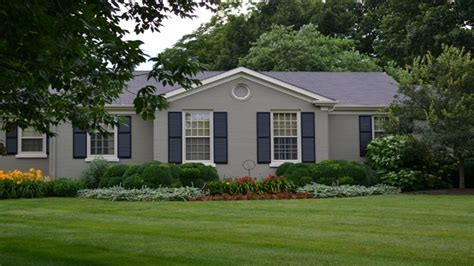painting brick house painted brick ranch house before and