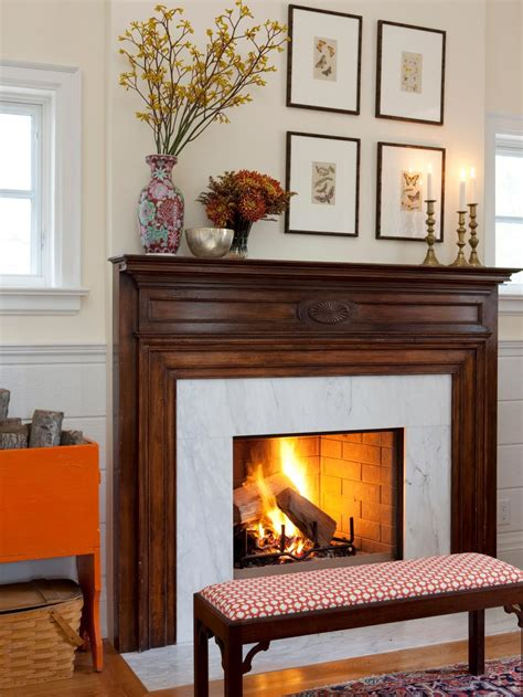 fireplace decorations our favorite fall decorating ideas hgtv
