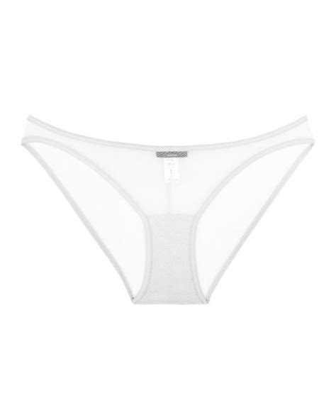 cosabella new soire sheer lowrider bikini in white lyst
