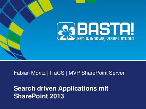 Search Mit Search Driven Applications Mit Sharepoint 2013