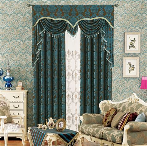double curtains for living room high class european style chenille jacquard double