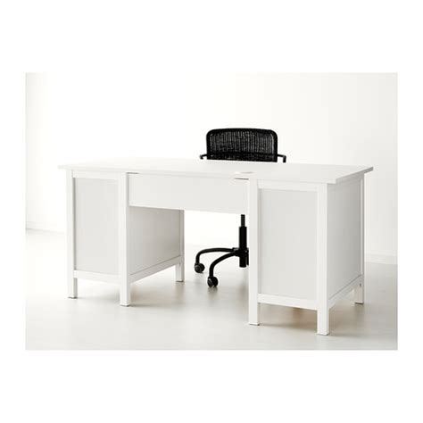 Hemnes White Desk by Hemnes Desk Cable Outlet For Easy Cable Management