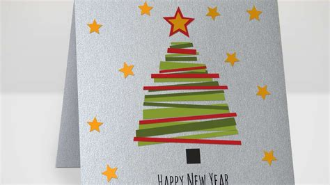 new year cards craft how to make a fir tree new year card diy crafts tutorial