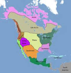 Native American Map Of North America by Native American Cultures Map North America Edit