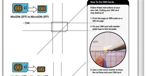 Nano Sim Card Template For Iphone 6 by T T D X How To Cut Your Own Nano Sim Card For Your