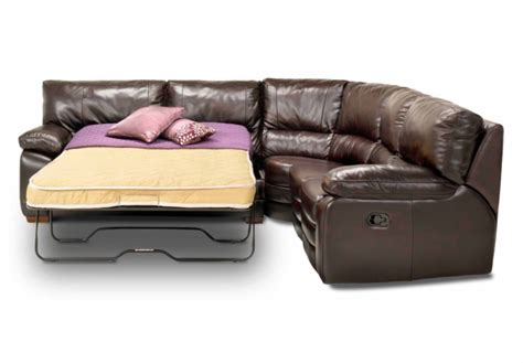 Leather corner sofa bed with recliner wooden global