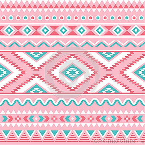 aztec pattern in pink tribal seamless pattern aztec pink and green background