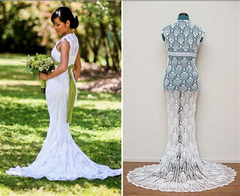 pattern crochet wedding dress 6 amazing crochet wedding dresses beautiful crochet stuff