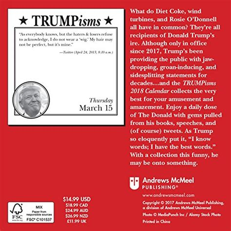 trumpisms 2018 day to day boxed calendar calendar store
