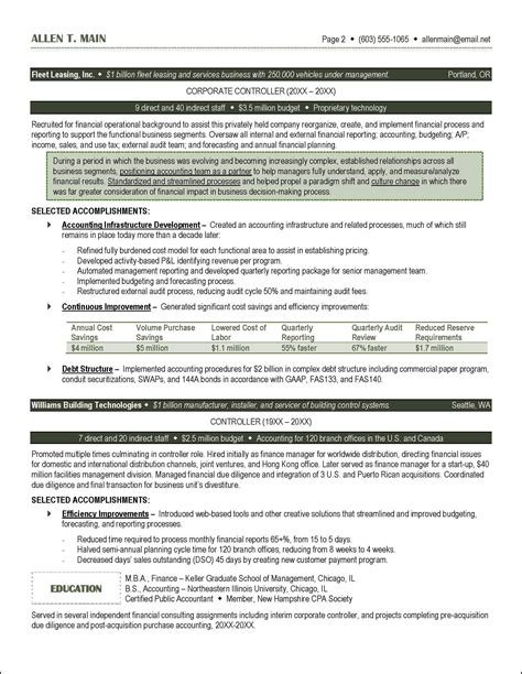 Accounting Resumes by Accounting Resume Exle Distinctive Documents