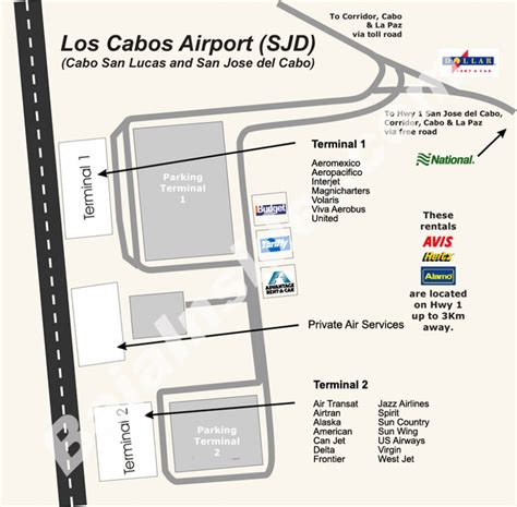 san jose international airport route map map of sjd terminal detail bajainsider
