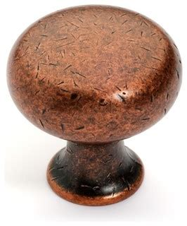 cabinet knob distressed antique copper