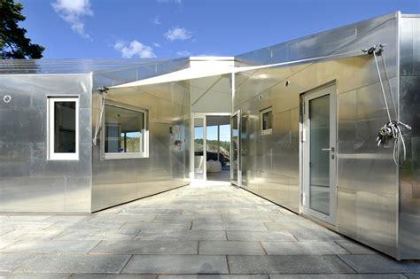 aluminum cabin jva archdaily
