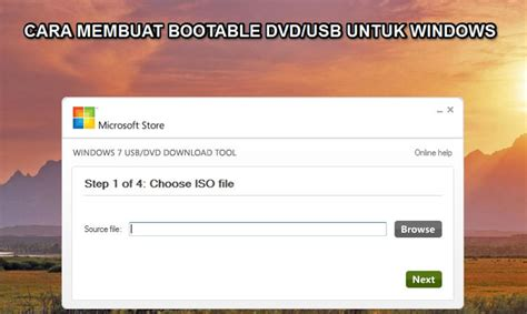 download software untuk membuat bootable usb installer windows 7 membuat bootable usb windows 7 dari dvd cara mudah membuat