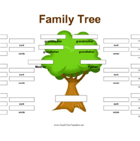 one sided family tree template family tree template family tree template s side