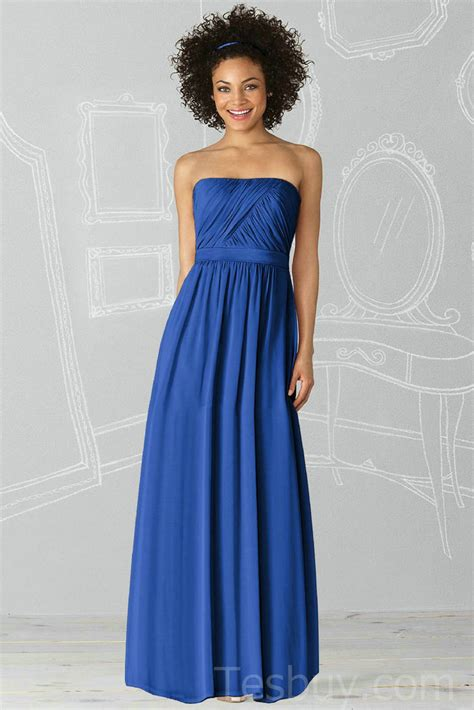 Blue Bridesmaid Dress by A Collection Of Chic Modest Blue Bridesmaid Dresses