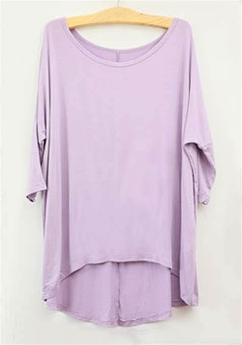 light purple t shirt light purple plain seven s sleeve modal t shirt t