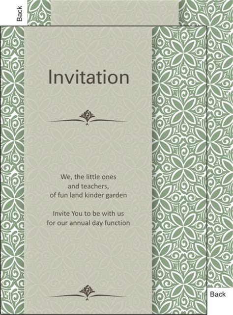 Invitation Letter Format For Annual Function School Annual Day Function Invitation Card Printable
