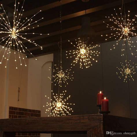 dandelion fireworks string lights led copper starburst