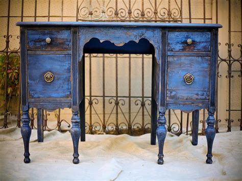 Blue Vintage Desk by Http Vintageambiance Wp Content Gallery Furniture