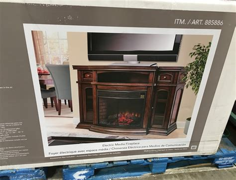 fireplaces electric costco ember hearth electric media fireplace costco weekender